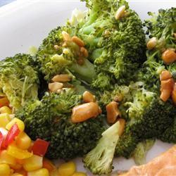 Broccoli with Garlic Butter and Cashews Allrecipes.com #SundaySupper # ...