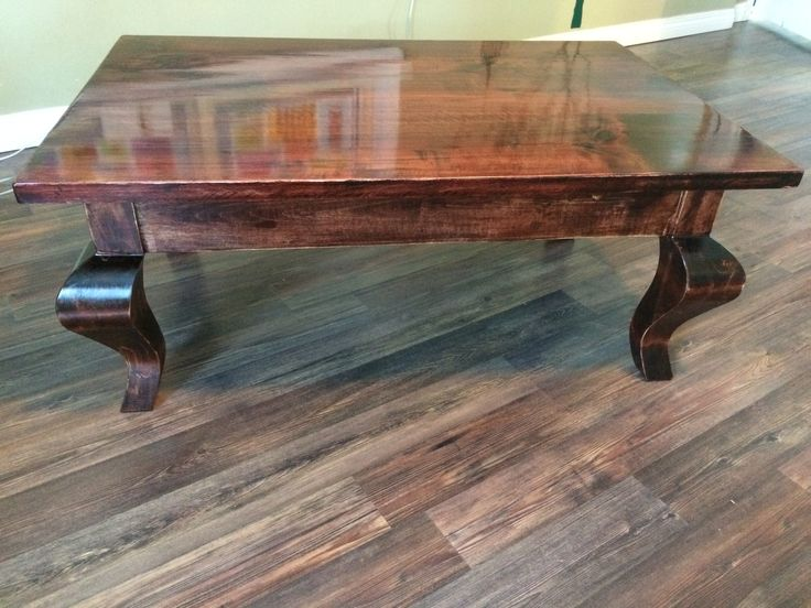 Repurposed birch French cabriolet style coffee table or tea if your into that