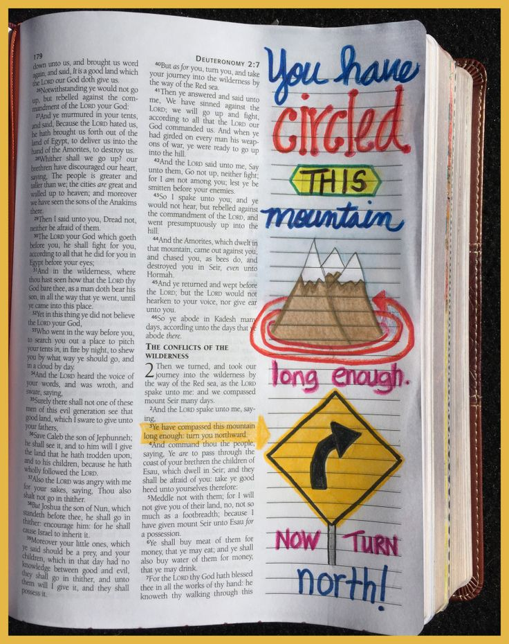 Deuteronomy You have circled this mountain long enough!