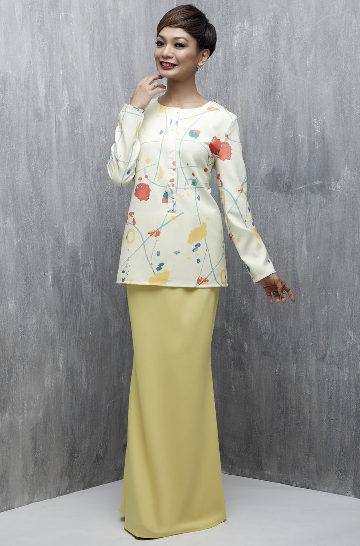 EMEL X ATILIA HARON - TYRO - Exclusive Print Modern Baju Kurung (Print) A comfortable yet fashionable must-have for all ladies this Raya! This fitted modern kurung features an exclusively printed fabric inspired by the ocean, with plain skirt for that stylish yet demure look for Raya. #emelxCLPTS #emelxAtiliaHaron #emelbymelindalooi #bajuraya #bajukurung #emel2016 #raya2016 #AtiliaHaron #print #yellow #breastfeedingfriendly #moden #2016 #baju #kurung #baju #raya