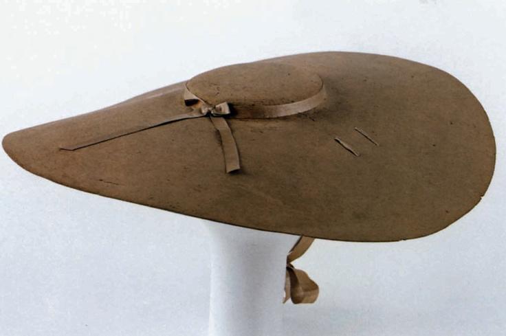 Cartwheel Hat, German, 1720-1750, brown felt, brown silk satin. (c) Metropolitan Museum of Art