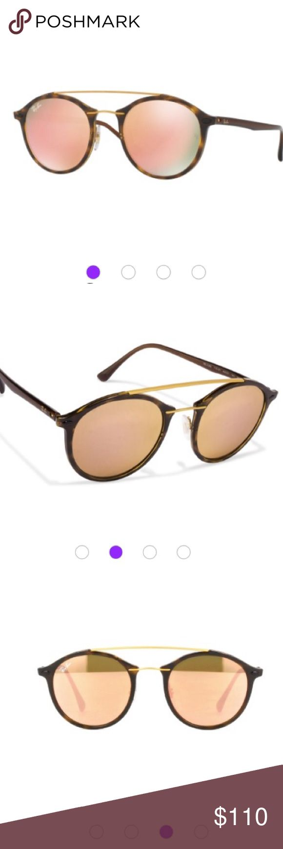 """Ray-ban shinny Havana/light brown mirror pink tech New! No trade no lowball. Ray-Ban 0RB4266 710/2Y 49 Shiny Havana/Light Brown Mirror Pink Tech sunglasses. Made in Italy. About this item Features Plastic frame Polycarbonate lens non-polarized Mirror coating Lens width: 49 millimeters Bridge: 21 millimeters Arm: 140 millimeters 2"""" high. Ray-Ban Accessories Sunglasses"""