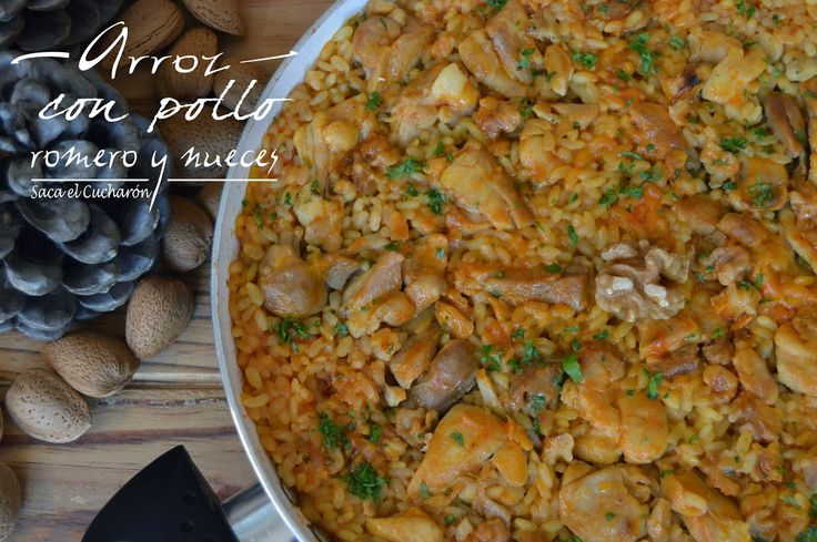 ARROZ CON POLLO, ROMERO Y NUECES | Cocinar en casa es facilisimo.com