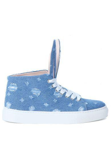 MINNA PARIKKA Sneaker Minna Parikka In Tessuto Blu Jeans. #minnaparikka #shoes #sneakers