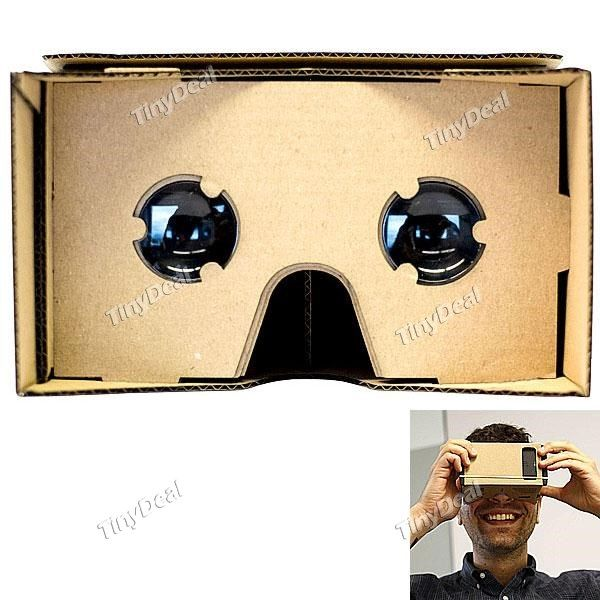 Unassembled DIY Google Cardboard Cellphone Virtual Reality 3D Glasses for iPhone Samsung HTC Cellphones EPATH-334753