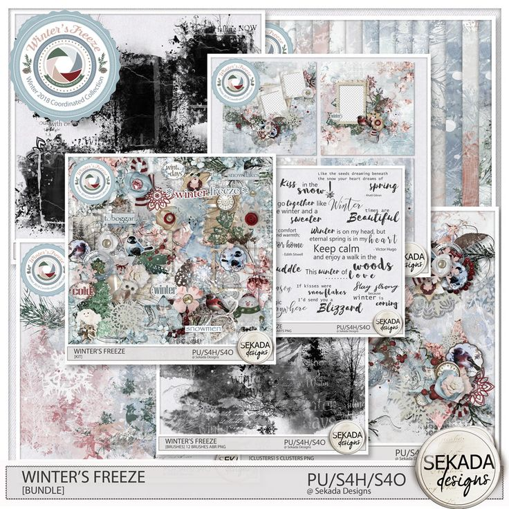 Digital Art :: Bundled Deals :: Winters Freeze [Bundle] by Sekada Designs