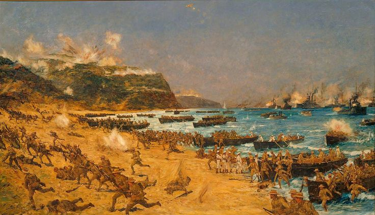 ANZAC landing at Gallipoli
