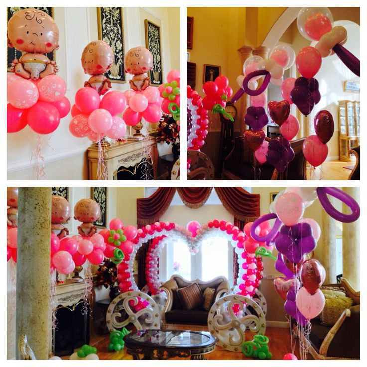Baby shower party decoration baby shower decoration ideas for Balloon decoration ideas for baby shower