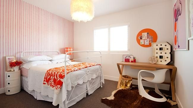 Vibrant colours make this bedroom light and fun. Pictures: Paramount Studios