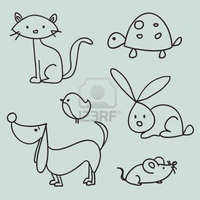 Hand Drawn Cartoon Pets Royalty Free Cliparts, Vectors, And Stock Illustration. Image 8929177.