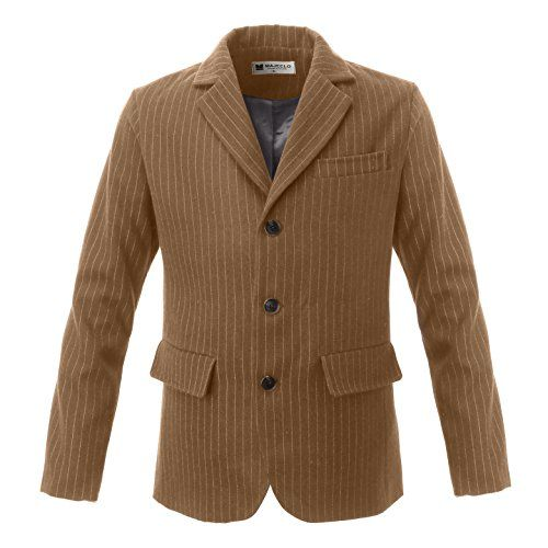 Majeclo Mens Casual Single Breasted Notch Lapel Patch Poc... http://a.co/dnyUARD