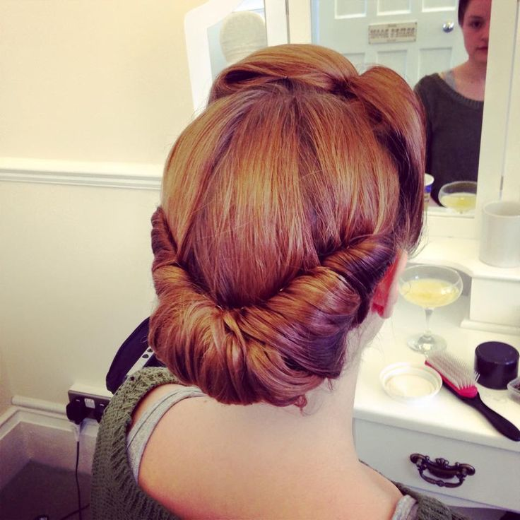 Wedding Hairstyle Roll: Www.myhairangels.co.uk Victory Roll Updo