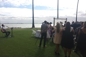 Wedding ceremony at Riva in St. Kilda
