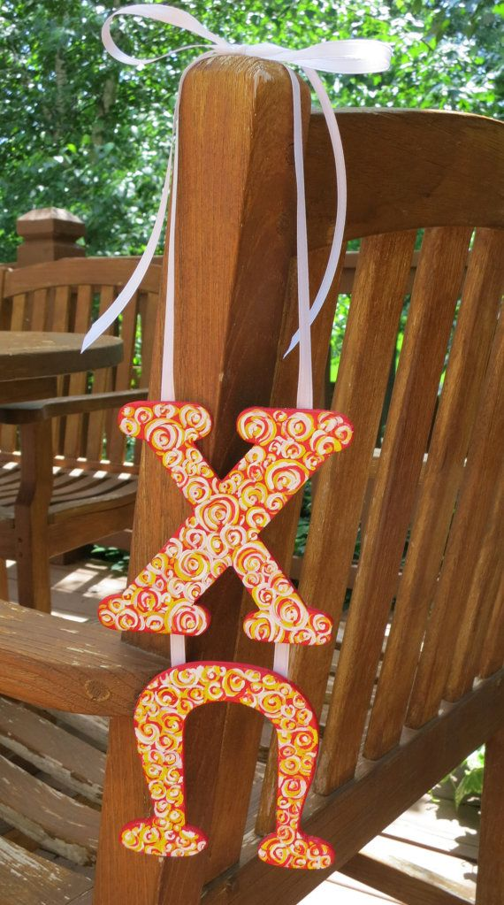 Chi Omega Sorority Hanging Letters by ARTbyKVB on Etsy, $18.00