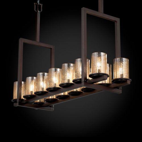 Justice design group fusion dakota 14 light dark bronze tall bridge chandelier on sale