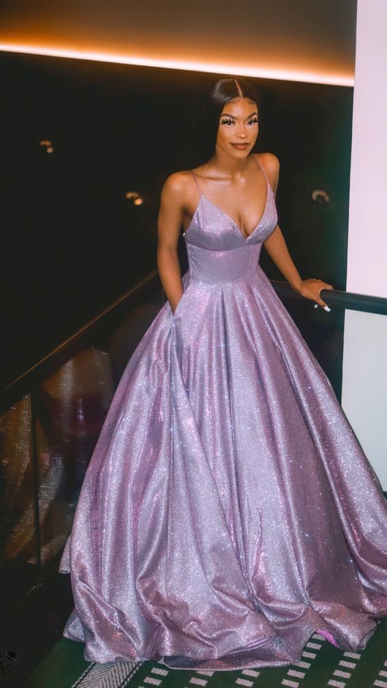 A line prom evening dress, fashion gown