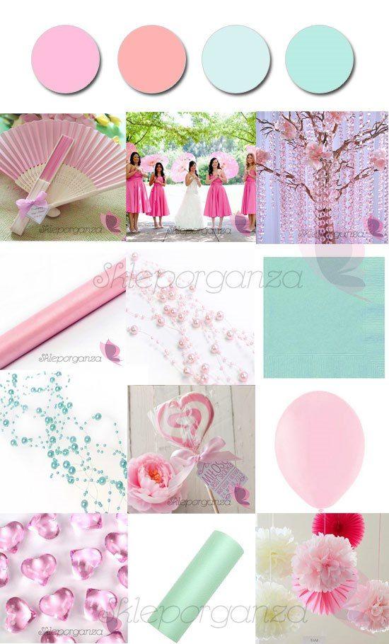 dodatki na ślub w kolorze różowym