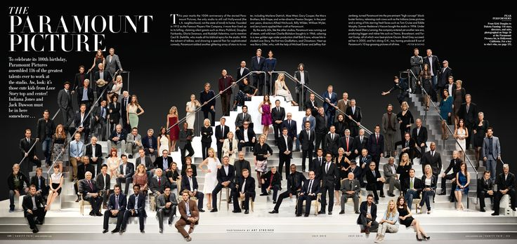 Paramount Pictures celebrates it's 100th anniversary with 116 famous actors and actresses!  Final photo for Vanity Fair magazine.