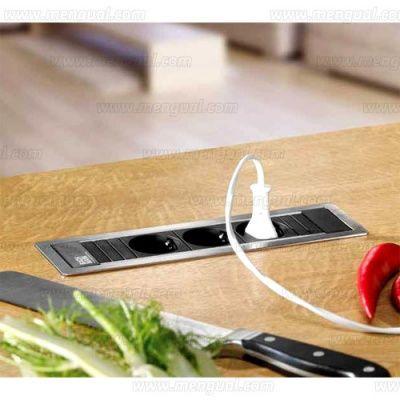 POWER módulo encastrable de enchufes y cargador USB con aro - 83.1619.1