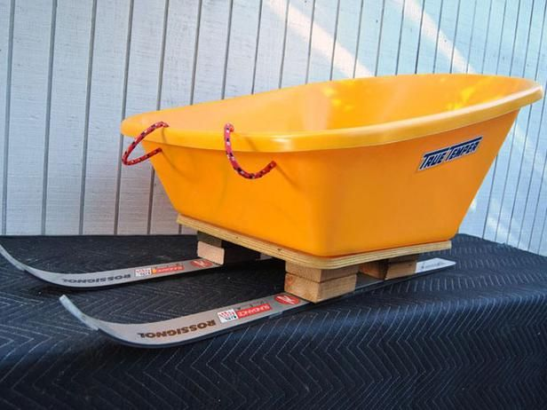 Build a Sled From a Pair of Old Skis and a Wheelbarrow >> http://www.diynetwork.com/outdoors/how-to-build-a-sled-from-a-pair-of-old-skis-and-a-wheelbarrow/index.html?soc=pinterest#