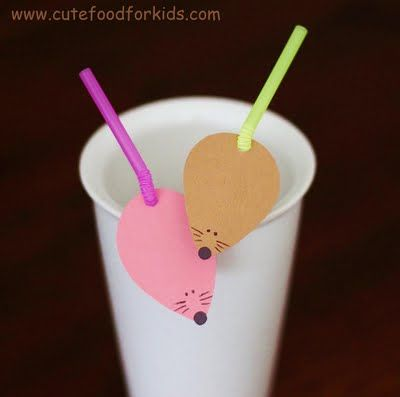 fun straws. Write the name of the childrens name on it, easy to see who's it from!