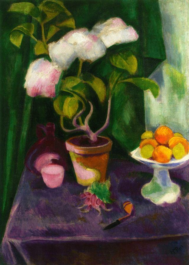 Still Life with Flowering Plants  Hermann Max Pechstein