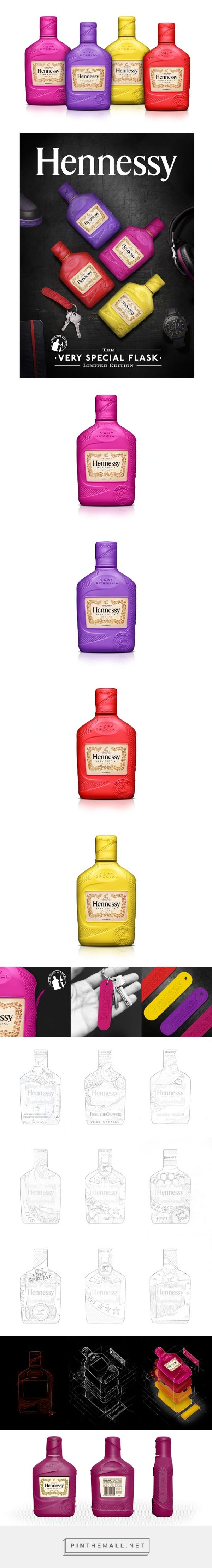 Hennessy V.S. Flask Sleeve #limitededition #packaging #silicon by Vasava - http://www.packagingoftheworld.com/2015/01/hennessy-vs-flask-sleeve.html