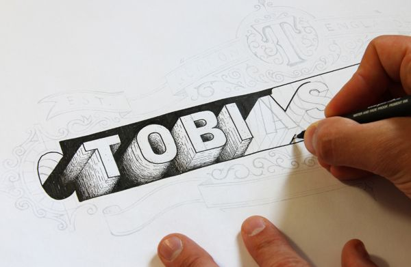 Hand Lettered Logos on Behance