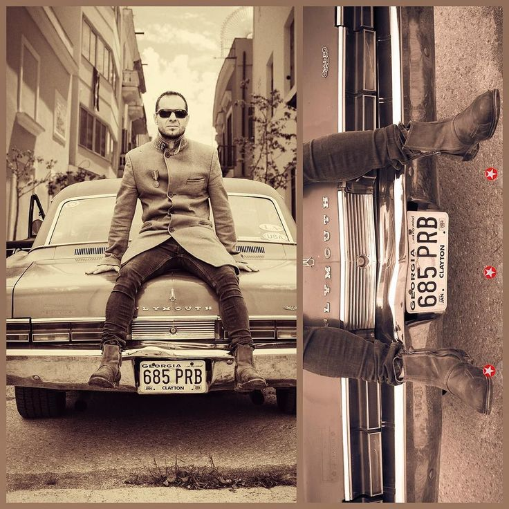 Some od my older work: singer Jindra Holubec #musician #ostrava #trebic #americancar #collage #monochromephotography
