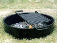 Commercial Park Campfire Ring w/Cooking Grate, 24 diam x 7 H, Staple $91.95