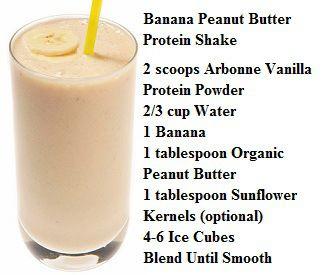 Arbonne Banana Peanut Butter Protein Shake
