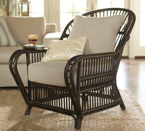 Monaco rattan armchair: Rattan Chairs, Living Rooms, Rattan Armchairs, Cushions Covers, Barns Monaco, Beaches Houses, Pottery Barns, Monaco Rattan, West Indie Style