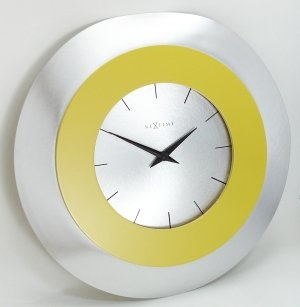 Yellow accent wall clock