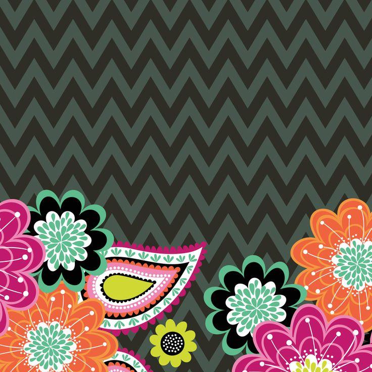 Dress Your Tech Ziggy Zinnia Tablet Wallpaper