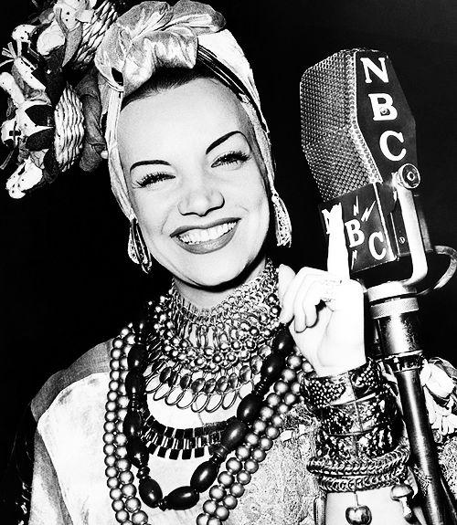 """ Carmen Miranda performing at the NBC Studios — New York, 1939 """