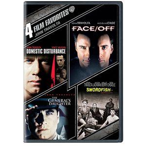 4 Film Favorites: John Travolta - Domestic Disturbance / Face/Off / The General's Daughter / Swordfish (Widescreen)