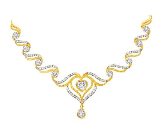 Make a striking impression with this stunning real diamond necklace set from Kisna. #necklace #designs #jewelry #fashion