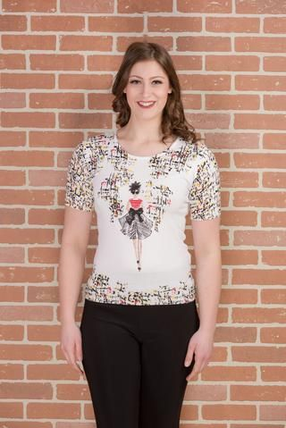 CE449 (Sweater only)  Lady print on front only
