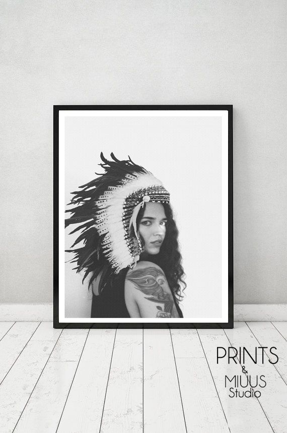 Photography Printable Art Native Black and by PrintsMiuusStudio