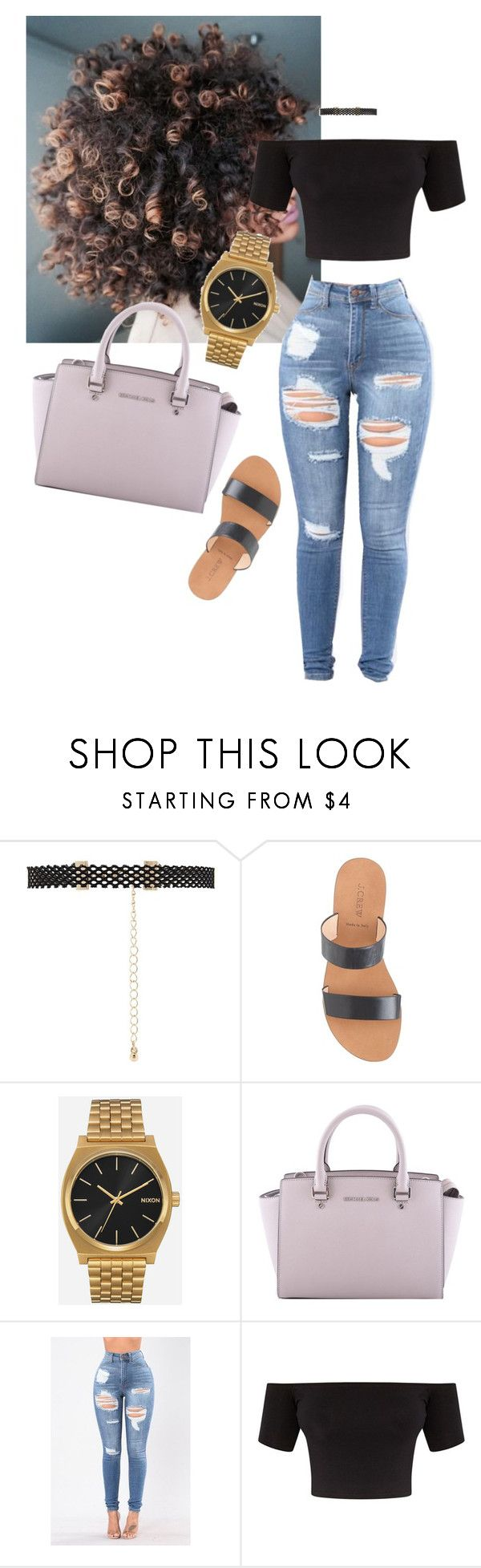 """Outfit"" by angiebe1 ❤ liked on Polyvore featuring Forever 21, J.Crew, Nixon and MICHAEL Michael Kors"