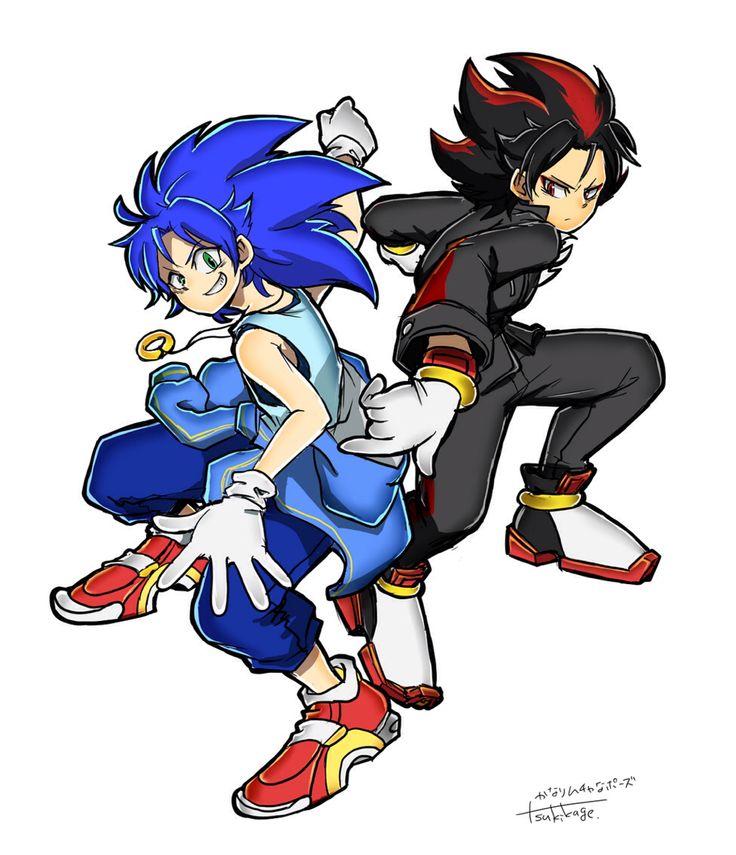 Shadow X Sonic Mpreg Sonic and shadow human...