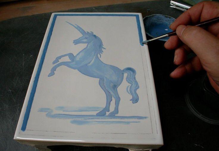 malowanie kafla kobaltem