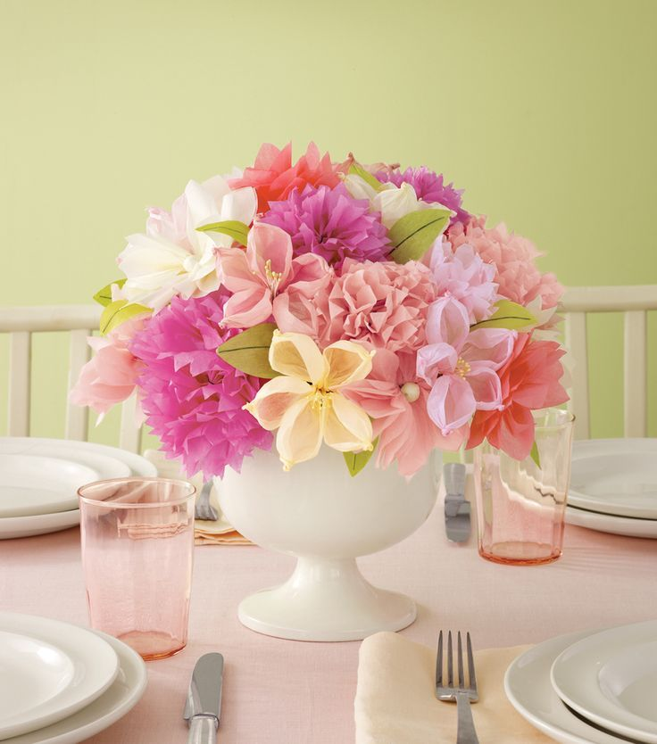 Ideas about paper flower centerpieces on pinterest