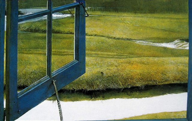 This was the painting that made me fall in love with Andrew Wyeth.: