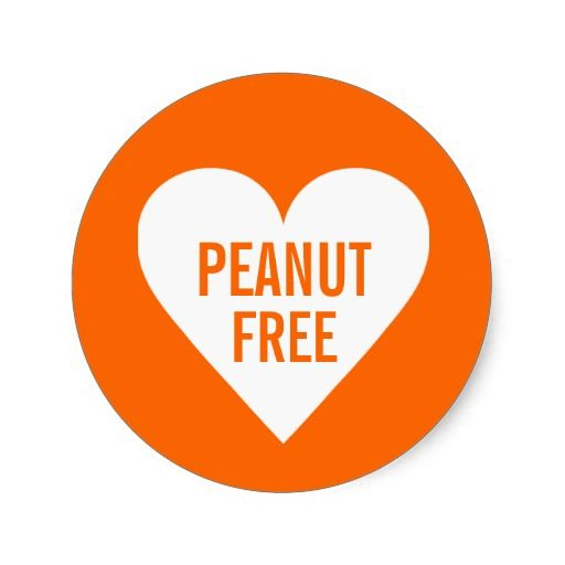 Free Printable Peanut Allergy Signs | Peanut Free Allergy Safe Culinary Label Round Sticker at Zazzle.ca