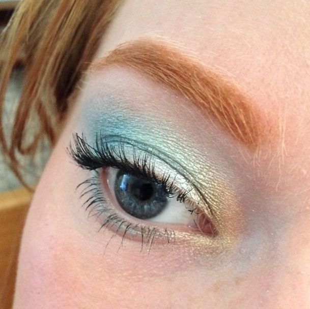 Beautiful eye look! BH Cosmetics Galaxy Chic eye look using Sun, Meteor, Comet, and Neptune over NYX Milk. | redheadedredhed