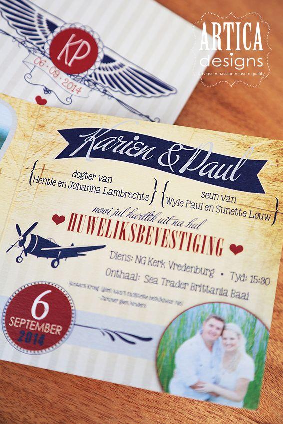 Polla & Karien wedding invites
