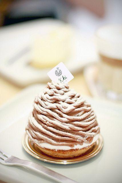 Scrumptious, gorgeous Mont Blanc. #French #pastries #dessert #food