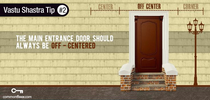 #Vastu Tip 1 : The main entrance should always be off-centered