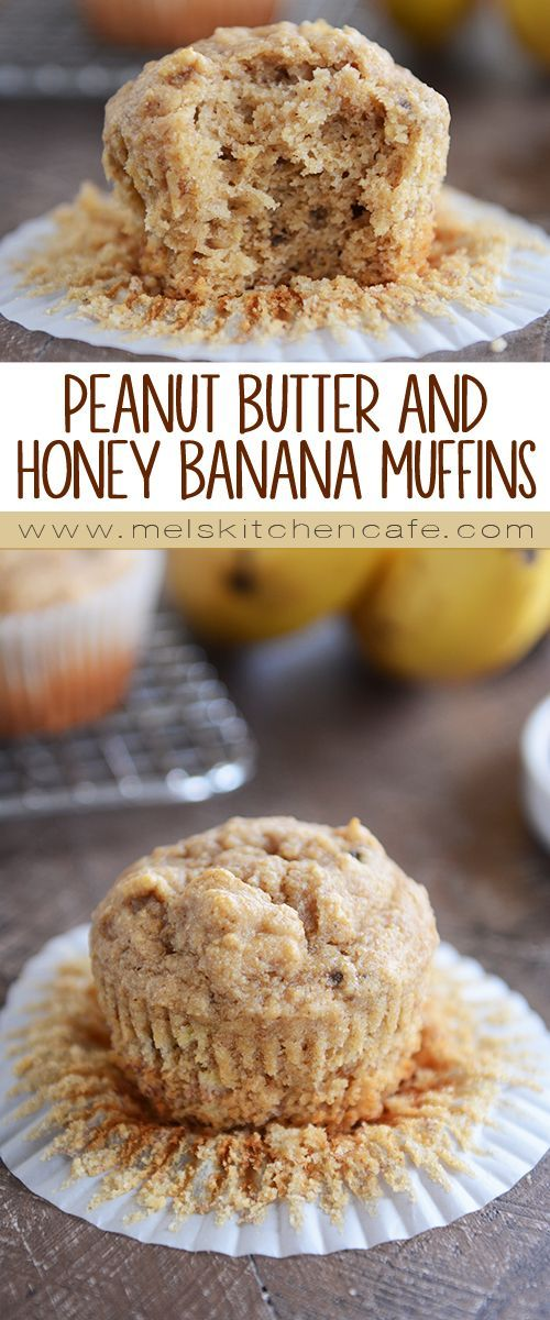 Whole Grain Peanut Butter and Honey Banana Muffins | | Always sweeten naturally with Madhava for best results | madhavasweeteners.com